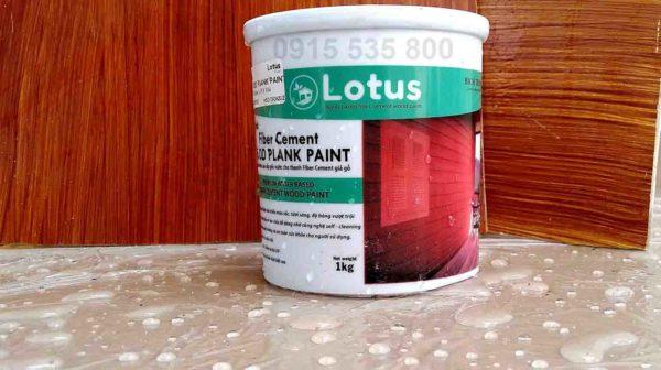 Sơn giả gỗ lotus chuyên dùng cho tấm xi măng Smartwood