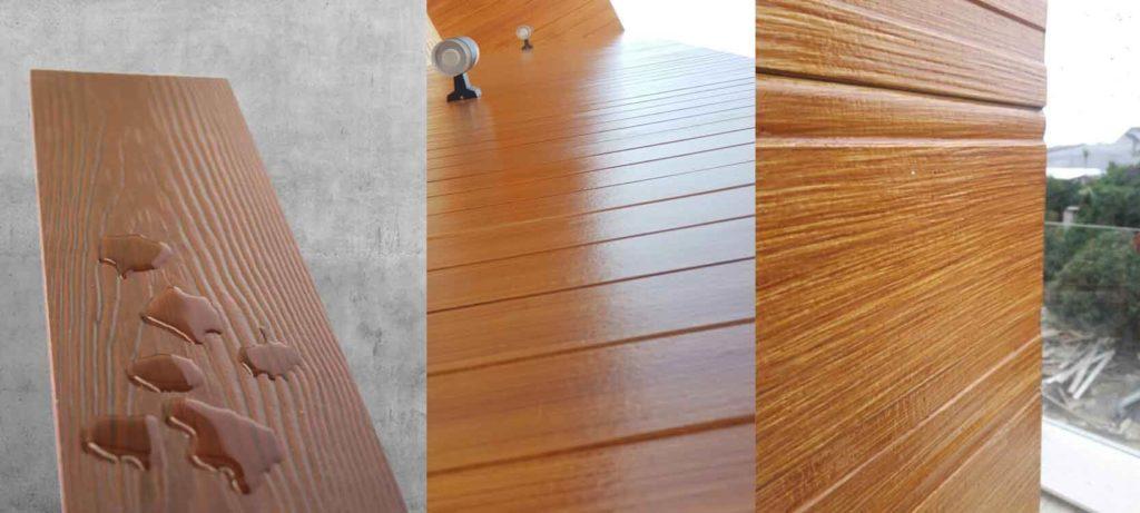 sơn giả gỗ trên tường nhà hay công trình