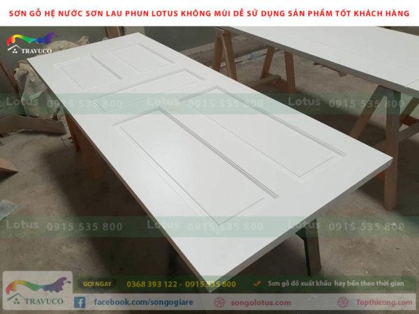 Đồ nội thất phun sơn gỗ màu trắng đang được ưa chuộng