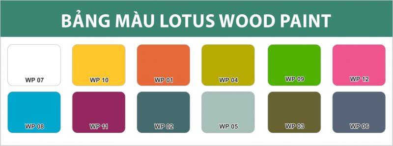 bảng màu sơn gỗ đơn sắc