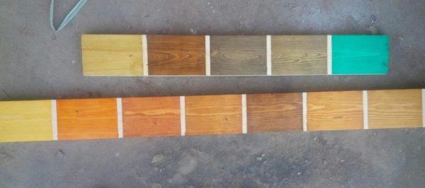 màu sơn gỗ phủ màu