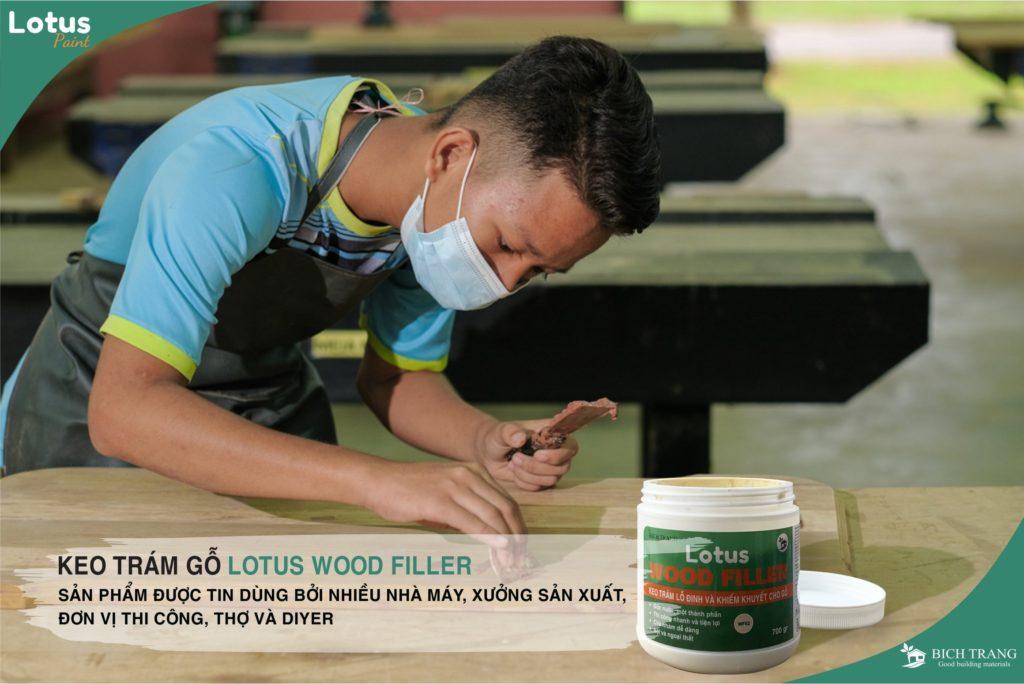 Keo trám trét gỗ - dùng nhiều nhất trong các nhà máy nội thất