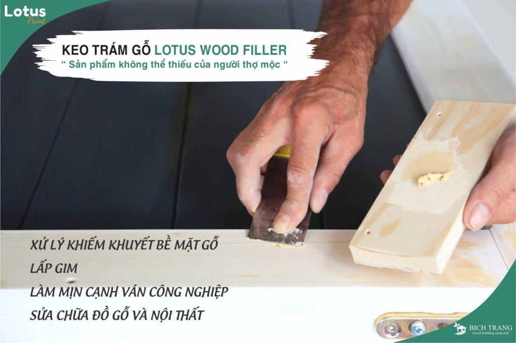 Keo trám trét gỗ dùng xử lý ván gỗ công nghiệp